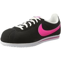 Nike Cortez Nylon (GS), Zapatillas de Running para Mujer, Negro (Black/Pink Blast-White), 38 1/2 EU