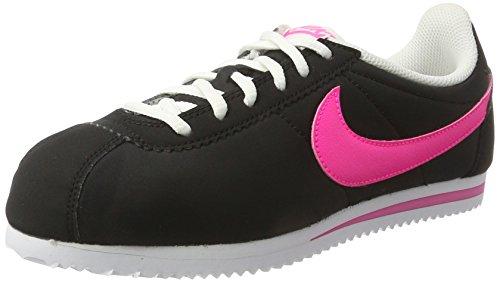 Nike Damen Cortez Nylon (Gs) Laufschuhe Mehrfarbig (Black/pink Blast-white)