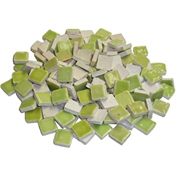 reseda Green Mosaix Mosaic Tiles Ceramic Glazed 10 x 10 x 3 mm 70 g ~ 150 pcs
