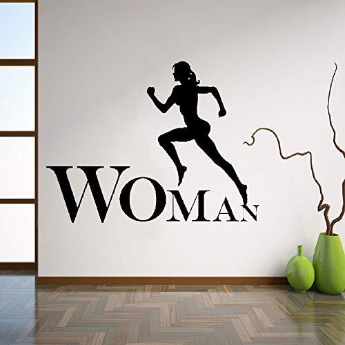 Kreative Wohnkultur Wandaufkleber Frau Fitness Gym Büro Inspiration Starke Kunst Decals Vinyl DIY 57 * 76 cm