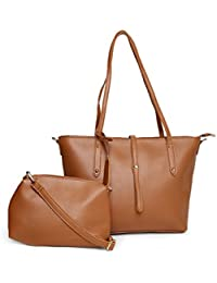 Alvaro Castagnino Brown Colored Handbag With Pouch For Women