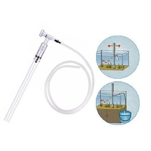 Gaddrt Aquarium Fisch Tank Cleaner, mit Zwei Spitzen Saugrohr Fish Tank Wasser Changer Drainer Gravel Cleaner Wasser Filter Siphon