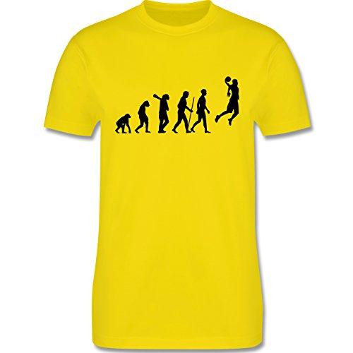 Evolution - Basketball Evolution - Herren Premium T-Shirt Lemon Gelb