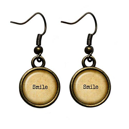 Smile Lächeln Antike Bronze Ohrringe