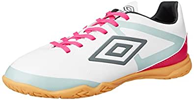 Umbro Men's Umbro Velocita Club Ic Jnr Nimbus Cloud, Dark Shadow, High Rise and Pink Glo Football Boots - 5.5 UK