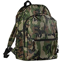 Económico Mochila de trekking Escuela libres Varios bolsillos, diseño de camuflaje militar