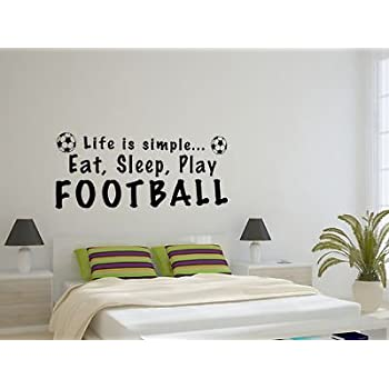 Eat Sleep Play Wall Art Sticker Quote   ES1   Free Applicator U0026 Free  Postage By Part 50