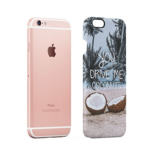 Chill Paradise Beach Life Sun Hawaii Good Vibes Only Custodia Posteriore Sottile In Plastica Rigida Cover Per iPhone 5C Slim Fit Hard Case Cover Drive Me Coconut