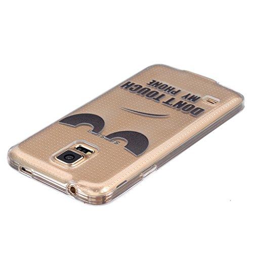 Cover per iPhone 6/iPhone 6S, con protezione per lo schermo in vetro temperato], boxtii® Ultra sottile sottile morbida TPU antigraffio trasparente protettiva Cover per Apple Iphone 6/iPhone 6S, Cartoo #8 Black