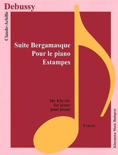 Partition - Debussy - Suite Bergamasque, pour le piano, Estampes