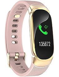 Baiomawzh Pulsera de Actividad Inteligente Fitness Tracker Smartwatch Reloj Deportivo con Podómetro, Monitor de sueño