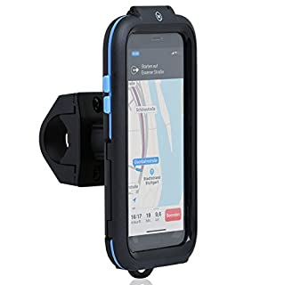 Wicked Chili Tour Case kompatible mit Apple iPhone XS/X - Bike Mount iPhone X, XS Fahrrad-Handy-Halterung für Navigation mit Face ID Unterstützung (Schutz vor Regen, Ladekabelanschluss)