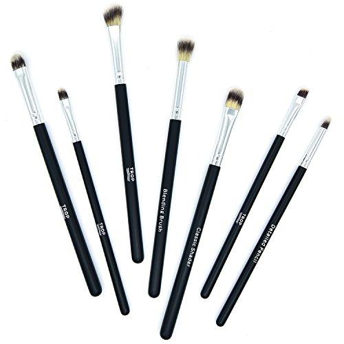 TROP 7-teiliges Make-Up Pinselset zum Auftragen von Lidschatten - mit 2 Jahren Geld-zurück-Garantie...