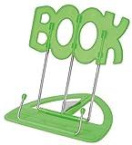 Wedo 21119911 Leseständer Book (aus Kunststoff, stufenlos verstellbar, vernickelte Bügel) grün