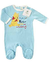 NEU | Strampler Winnie Pooh | Schlafanzug Jungen hellblau | 56 62 68 74 80 86 92