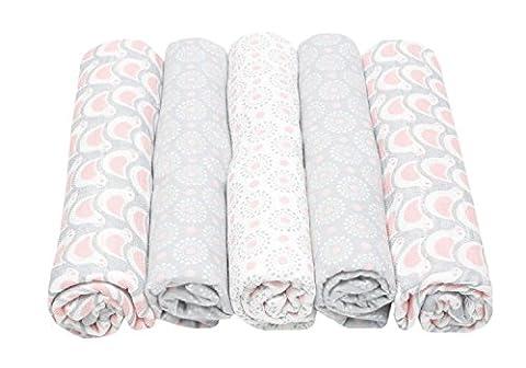 Motherhood 5901323923258 Set Baumwolltücher, 3 x Spucktücher plus 2 x