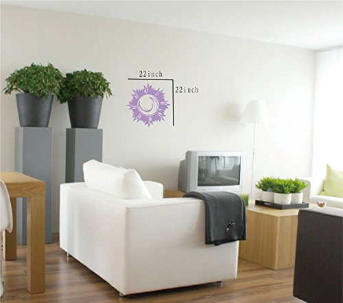 Large--Easy instant decoration wall sticker wall mural boy girl kids baby nursery room butterfly sun FL790