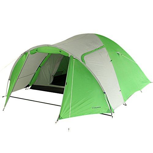Fridani DSG 4 Mann Camping Zelt Kuppelzelt 3000 mm wasserdicht Vorraum Belüftung Moskitonetz - D 18 Grün