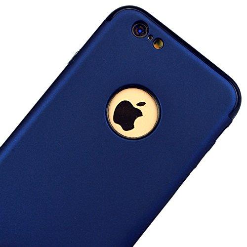 Yokata Combo 2 in 1 Cover per iPhone 6S Plus / 6 Plus Sottile Custodia Case gel Silicone Durevole PC Duro Backcover Protettiva Caso Bumper Premium Protezione Shell Per iPhone 6S Plus / 6 Plus + Penna  Blu