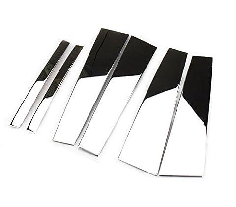 6pcs Stainless Steel Window Trim Centre Pillar for Honda Accord