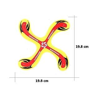 Gfone Gelb Boomerang Bumerang Fan Rund Outdoor Sport Spielzeug für Kinder ab...