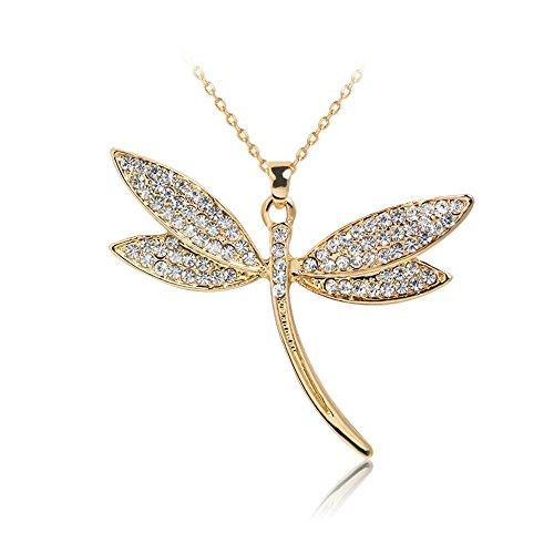 XIAOJING Halskette Halskette mit Anhänger aus Metalllegierung für Frauen Gr. Einheitsgröße, Gold -