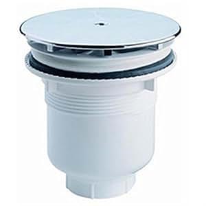 Bonde de douche siphoïde - avec enjoliveur - sortie verticale diamètre 90 Plastique Réf BASIC SEGMENT 205151 / BR409787