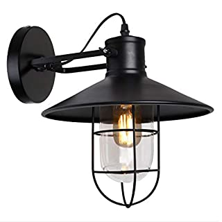 Vintage Wall Light, Annstory Creative Retro Industrial Rustic Sconce Wall Light with E27 Socket for House, Bar, Restaurants, Coffee Shop, Club Decoration, 220V, Bulbs not Included (Annstory L1)