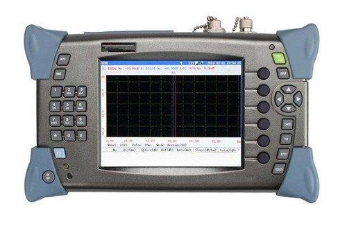 Preisvergleich Produktbild Gowe OTDR Optische Time Domain Reflektometer 32/30dB, 1310nm/1550nm, 80–100km, Singlemode FC/PC 13cm OTDR mit 5mW VFL Funktion Englisch-Schnittstelle Faser Tools Test Equipment Optische Reflektometer