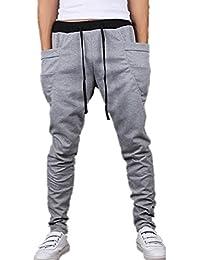 BOMOVO - Casual Harem Holgado Hip Hop Danza Pantalones harem pies de pantalones