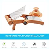 Homecare Beautifully Designed Fruit & Vegetable Cutter/Slicer with BPA Free Plastic Food Holder, Variable Thickness Blade for Hassle-Free Slicing and Dicing