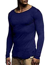 Yvelands Men s Fashion Muscle Manga Larga Camiseta O Cuello Slim Fit  Patchwork Tops Blusa Camisas 139a57e9a48