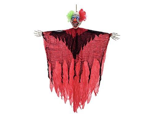 Halloween Geist Horror Clown BORIS, LEDs, 100 cm - Deko Hängefigur - (Halloween Geist Clown)