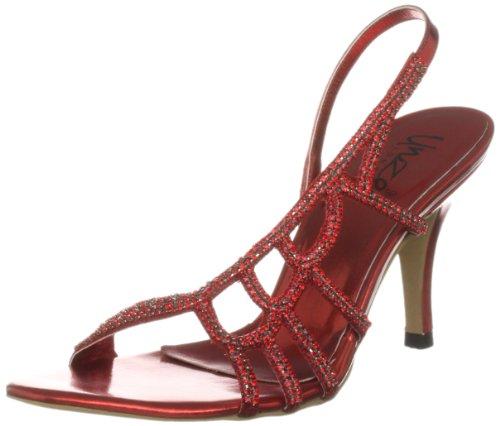 Unze Evening Sandals, Sandali col tacco donna Rosso (Rot (L18208W))