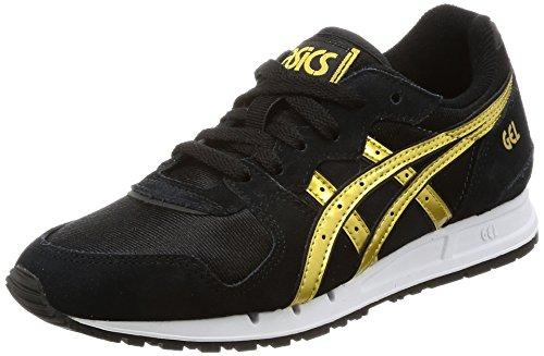 Asics Damen Gel Movimentum Sneaker, Schwarz (Black/Rich Gold), 38 EU (Rich Gold Schuhe)