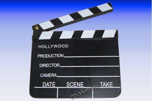Filme Hollywood Kostüme (Holz Regieklappe, 18 x 20 cm, Hollywood Filmdeko, Filmklappe, Regie Klappe, Kostüm,)