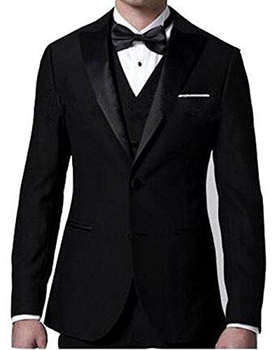 Passen Zwei Stück Anzug (Lilis® Herren Formelle Herren Anzug 3 Stück Smoking 2 Taschen Blazer)