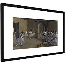 Edgar Degas - sala di balletto alla Opera Peletier - 60x40 cm - Immagine cornice - Stampa artistica - arte della parete - Vecchi Maestri / Museo