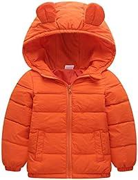 100b1d6ccbd3 FLHT Daunenjacke Junge Mädchen Jungen Mädchen Kinder Winter Herbst Warmer  Parka-Mantel Lichtfarbe Kinderkleidung Cute Baby…