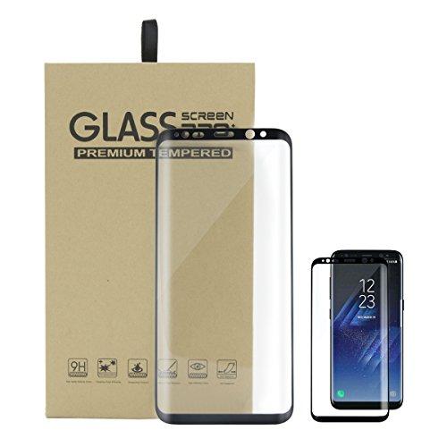 Protector De Pantalla Para Samsung Galaxy S8 Vidrio Templado 3D Curvado Full Coverage 9H Tempered Glass Screen Protector Para Smartphone Galaxy S8 Anti-Rasguños HD Film 1 Pack Negro