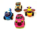 #10: Akrobo Toy Friction Powered Cars Early Educational Toddler Baby Toy Push and Go Car, Helicopter, Plane, Train Vehicles Toys Gift for Kids (4 PCS)