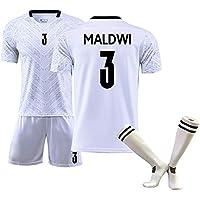 Camiseta de fútbol para niños, Buffon1 Maldwi3 Bonucci19 Copa de Europa Italia Segunda Camiseta de fútbol de Manga Corta Trajes Verano, Limpieza repetible, la Mejor opción para los fanáticos-Whit