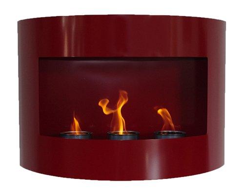 Design Kamin Gel Bio Ethanol Biokamin Riviera Rot