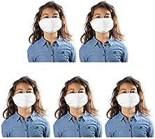 CALZITALY – PACK 5 PEZZI Fascia Protettiva Lavabile e Riutilizzabile, Tessuto Antibatterico, Protezione Naso e Bocca,...