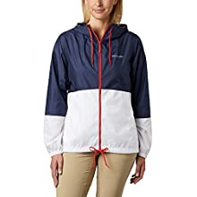 Columbia Women's Flash Forward Windbreaker, Nocturnal, White, M