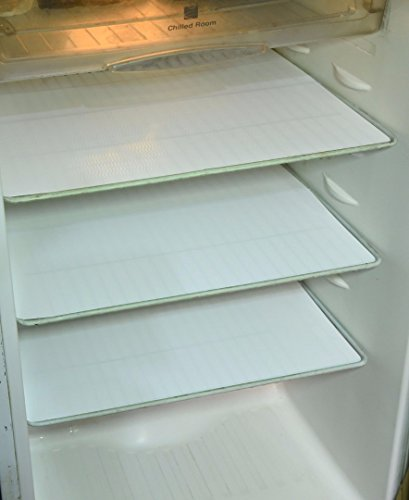 Kuber Industries™ Refrigerator Drawer Mats / Fridge Mats/ Multi Purpose Mats Set of 6 Pcs (White)