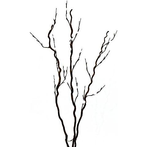 Ramo di cavatappi bianco 3st.120cm, 54LED, pianta artificiale
