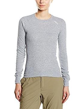 Odlo L/S Crew Neck Camiseta Térmica, Mujer, Gris (Grey Melange), L