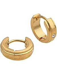 Spangel Fashion New Antique Design Gold Plated Alloy Huggie Earrings For Men And Boys