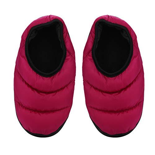 Hausschuhe Unisex Damen Herren Home Pantoffeln Winter Herbst warm weich Baumwolle Winterhausschuhe Haus Hüttenschuh leicht Schlappen Indoor Outdoor Filzpantoffeln Anti-Skid als Weihnachten ()